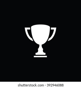 Winner cup vector icon. vector isolated trophy element sign symbol icon flat illustration pictograph silhouette logo. Compatible with ai, cdr, jpg, png, svg, pdf, ico and eps.