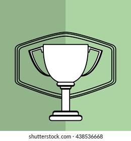 Winner design. Success icon. Flat illustration, vector graphic