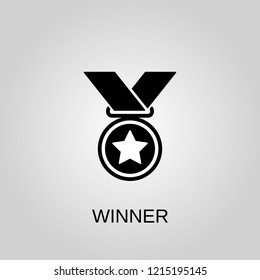 Winner icon. Winner symbol. Flat design. Stock - Vector illustration