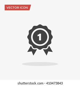 Winner Icon in trendy flat style isolated on grey background. Victory symbol for your web site design, logo, app, UI. Vector illustration, EPS10.
