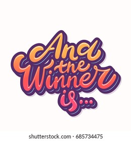 And the winner is... Lettering phrase.