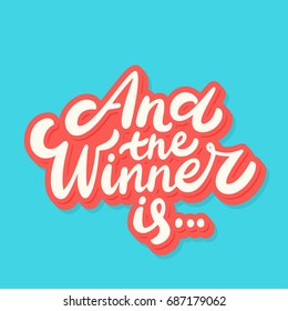And the winner is... Vector lettering.