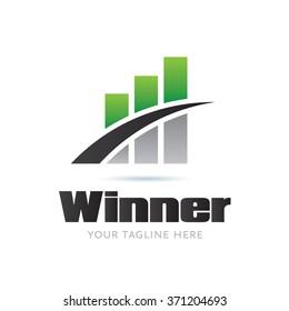 Winner Logo Icon Elements Template