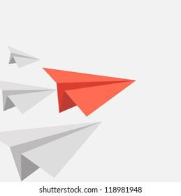 winner red paper paper aircraft