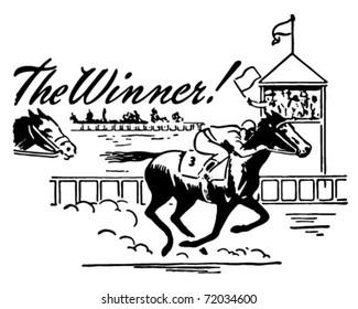 The Winner - Retro Ad Art Banner