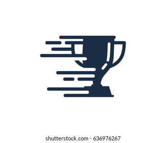 Winner Speed Trophy Icon Logo Design Element