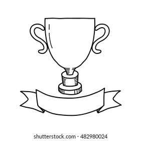 photograph regarding Printable Trophy titled Trophy Drawing Visuals, Inventory Pictures Vectors Shutterstock
