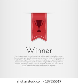 Winner. Vector template design.