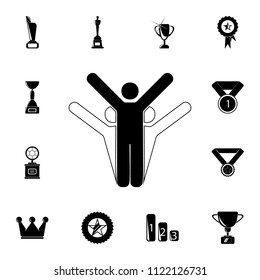 winners icon. Detailed set of Sucsess and awards icons. Premium quality graphic design sign. One of the collection icons for websites, web design, mobile app on white background