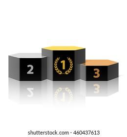 Winners podium vector illustration