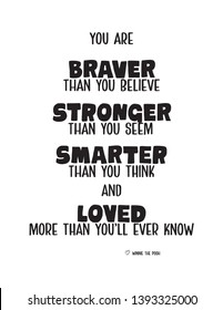 Winnie The Pooh Quote,Inspiration Quote for kids