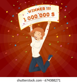 Winning the lottery.