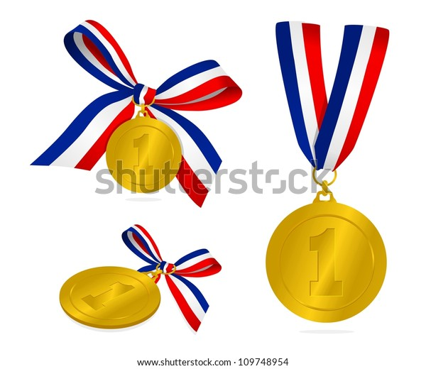 Winning Medals Stock Vector (Royalty Free) 109748954