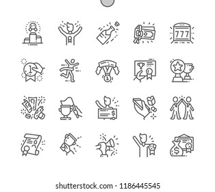 Winning Well-crafted Pixel Perfect Vector Thin Line Icons 30 2x Grid for Web Graphics and Apps. Simple Minimal Pictogram