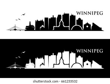 Winnipeg skyline - Canada - vector illustration