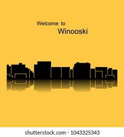 Winooski, Vermont ( city silhouette )