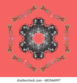 Winter abstract background. Vector christmas abstract colorful background with cute snowflake. Vector illustration. Christmas background with snowflakes.
