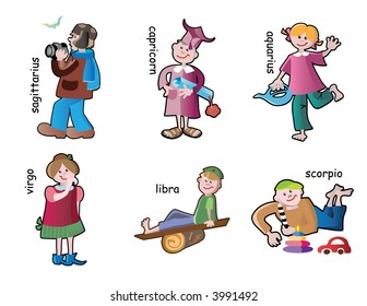 winter and autumn horoscope of  children characters