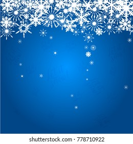 Winter background with figure snowflakes. Can be use as banner or poster.Vector illustration