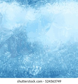 Winter background with an ice texture