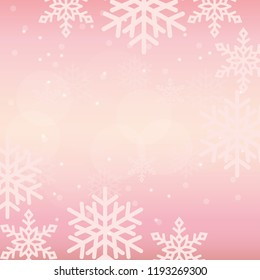 Winter background illustration with snowflakes
