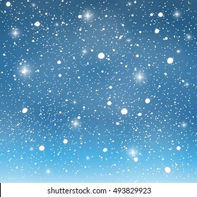 Winter background with snow