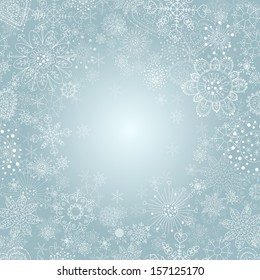 winter background with snowflake illustration .