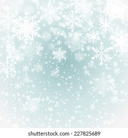 winter background with snowflakes. festive vector illustration