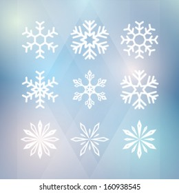 winter background. with snowflakes. vector illustration eps10