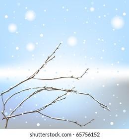 The winter background thread