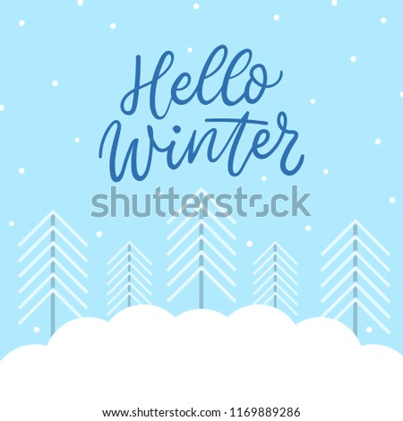 winter background trees snow winter template stock vector royalty