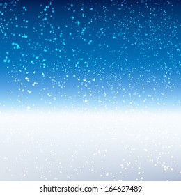 Winter background. Vector illustration.