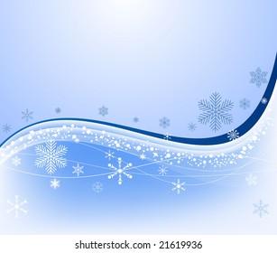 Winter background vector illustration