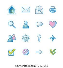 winter basic web icons set