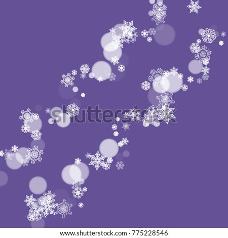 winter border with ultraviolet snowflakes new year frosty backdrop snow frame for flyer