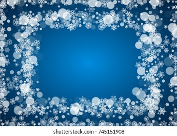 winter border with white snowflakes for christmas and new year celebration horizontal winter border on