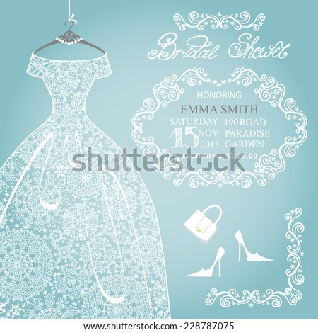winter bridal shower dressinvitation cardopenwork wedding dresssnowflakes lace fabric