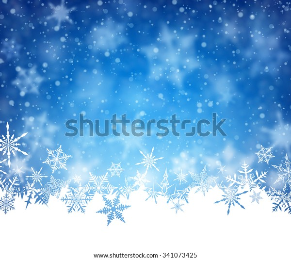 Winter card with snowflakes. Vector paper illustration.