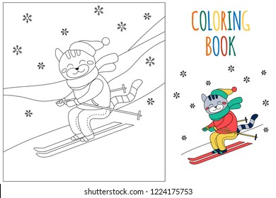 winter childrens coloring book page 260nw