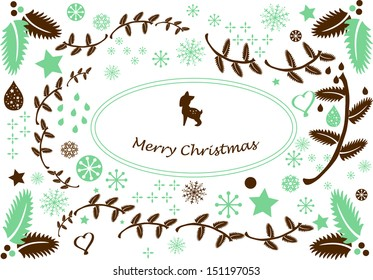 Winter christmas greeting card vector graphic, this graphic contains shapes which are perfect for the holidays celebrations