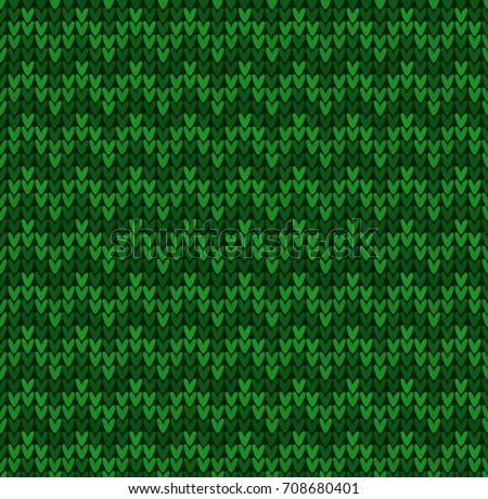 Winter Christmas Xmas Knit Seamless Background Stock Vector Royalty