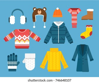Winter clothes illustration