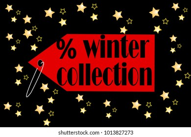 winter collection discount vector