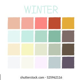 Winter Color Tone without Code. Vector Illustration.