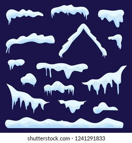 Winter design. Snow and ice set.