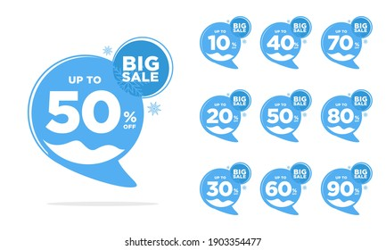 winter discount tag template design best for boost your sales product