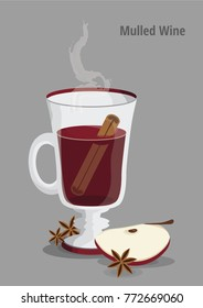 Winter drink mulled wine