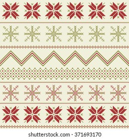 Winter fair isle pattern