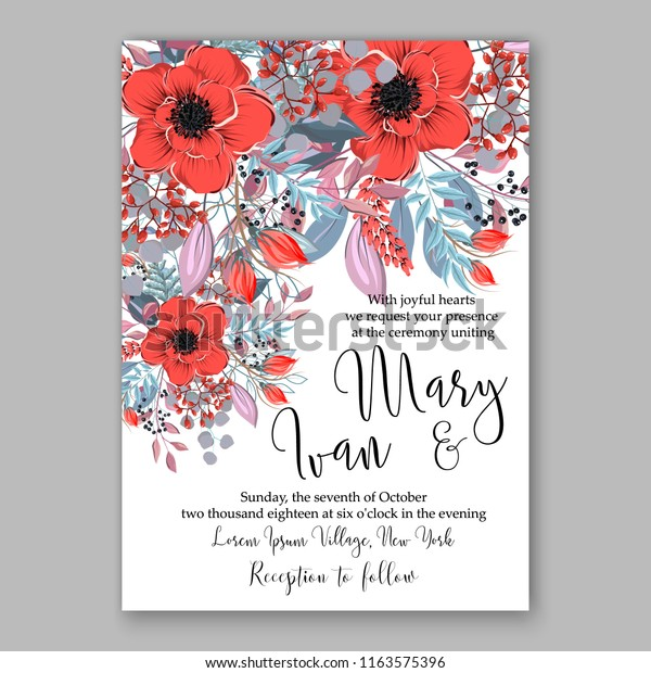 Winter Floral Vector Background Christmas Party Stock Vector