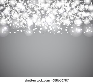 winter framework for your text with many snowflakes